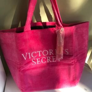 VS towel fabric tote NWT tassel